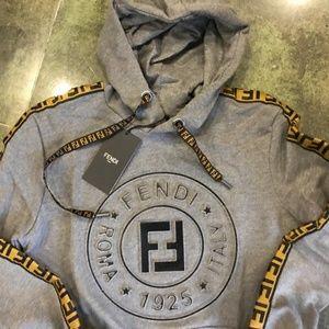 Fendi Shirts - FENDI MEN COTTON HOODED